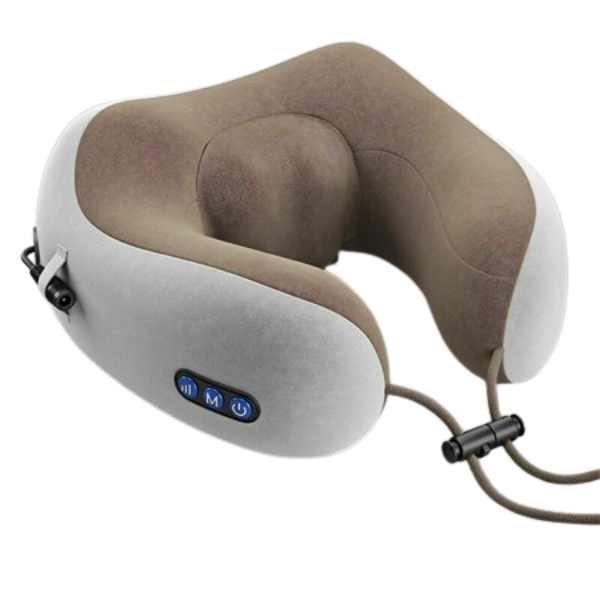 Масажна вібраційна подушка U-Shaped Upgrade Vibration Pillow з функцією пам'яті з розумною піни - зображення 1