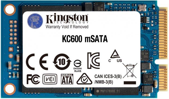 Kingston SSD KC600 256GB mSATA SATAIII 3D NAND TLC (SKC600MS/256G) - зображення 1