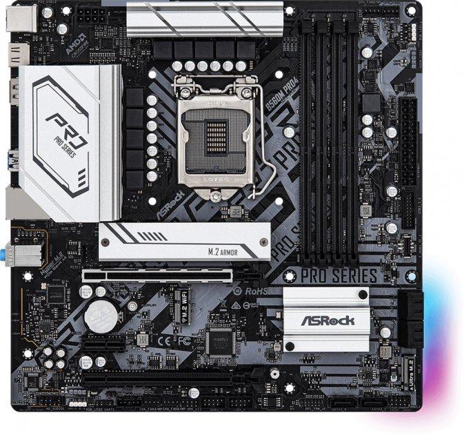 Материнская плата ASRock B560M Pro4 (s1200, Intel B560, PCI-Ex16) - изображение 1
