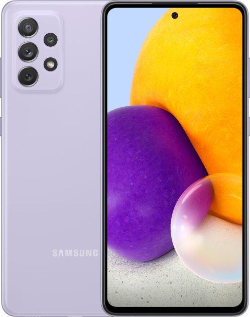 Мобільний телефон Samsung Galaxy A72 8/256 GB Lavender - зображення 1