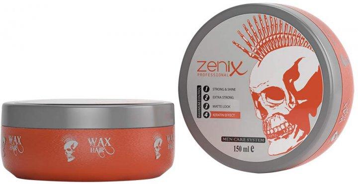 Віск для укладання волосся Zenix Кератиновий ефект 150 мл (8680075542166) - зображення 1