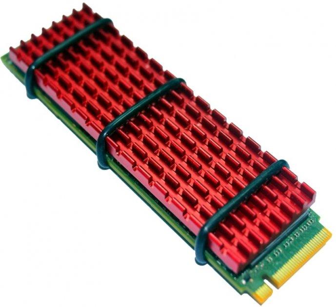 Радіатор для SSD Gelid SubZero M.2 SSD 70x20х3 мм Red (HS-M2-SSD-10-A-4) - зображення 1