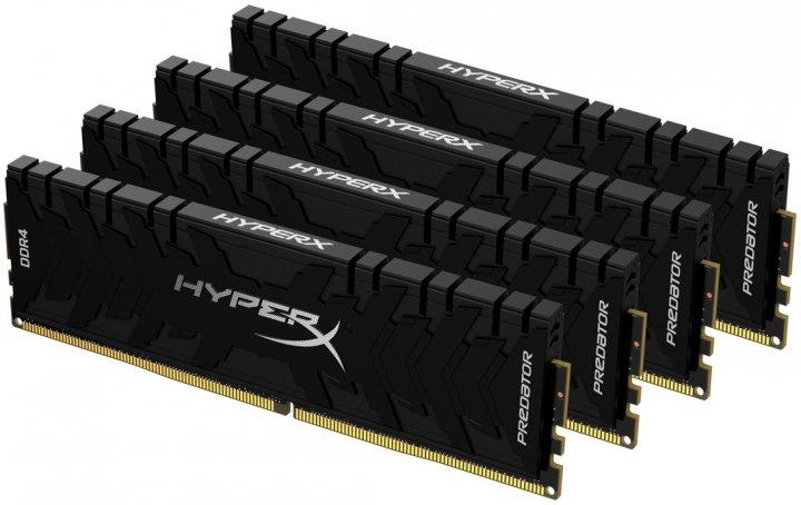 Оперативная память HyperX DDR4-3200 131072MB PC4-25600 (Kit of 4x32768) Predator Black (HX432C16PB3K4/128) - изображение 1