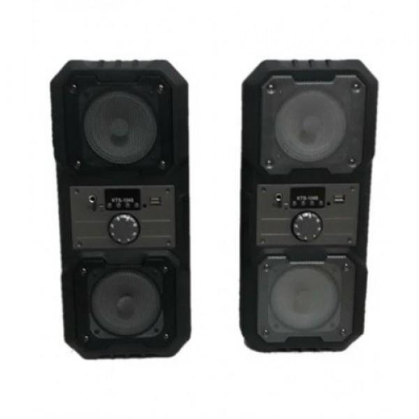 Портативная Мобильная Bluetooth колонка Kts 1048, Чёрная - изображение 1