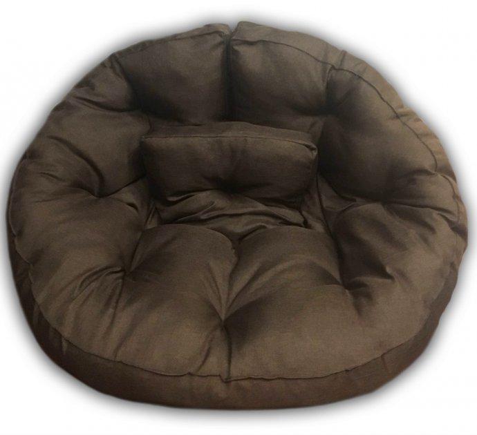 Кресло трансформер матрас с подушкой бескаркасное раскладное лежак Коричневый M (12397704) - зображення 1