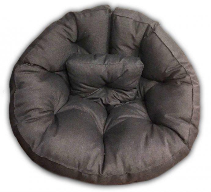Кресло трансформер матрас с подушкой бескаркасное раскладное лежак Серый M (12397707) - зображення 1