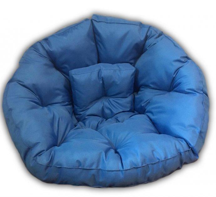 Крісло трансформер матрац з подушкою безкаркасне розкладне лежак Синій M (12397706) - зображення 1