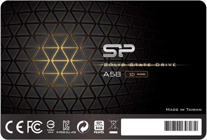 "Silicon Power A58 128GB 2.5"" SATAIII 3D NAND TLC (SP128GBSS3A58A25) - зображення 1"