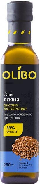 Масло из семян льна Olibo 250 мл (4820184310018) - изображение 1
