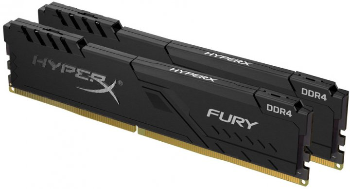 Оперативная память HyperX DDR4-3200 16384MB PC4-25600 (Kit of 2x8192) Fury Black (HX432C16FB3K2/16) - изображение 1