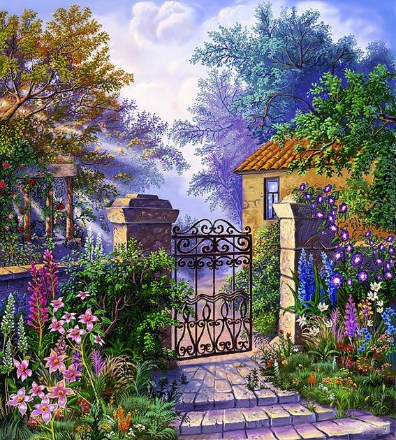 Вышивка калитка в сад купить рюкзаки из холщовой ткани купить