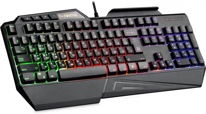 Клавиатура проводная Defender Glorious GK-310L RGB Black (45310) - изображение 1