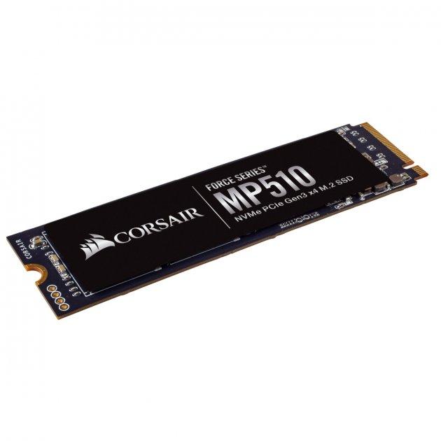 Накопичувач SSD 240GB M. 2 NVMe Corsair Force Series MP510 M. 2 2280 PCIe Gen3.0 x4 3D TLC (CSSD-F240GBMP510) - зображення 1
