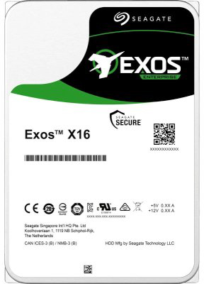 "Жорсткий диск Seagate Exos X16 HDD 12TB 7200rpm 256MB ST12000NM001G 3.5"" SATA III - зображення 1"