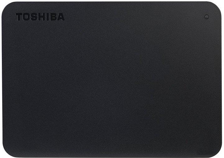 """Жорсткий диск Toshiba Canvio Basics + USB-C адаптер 1TB HDTB410EK3ABH 2.5"""" USB 3.2 Gen1 External Black - зображення 1"""