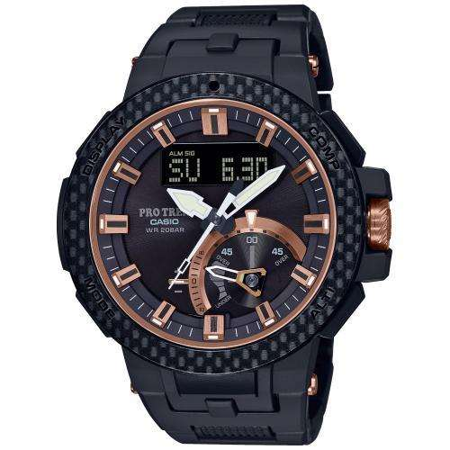 Чоловічі годинники Casio PRW-7000X-1ER Чорний - зображення 1