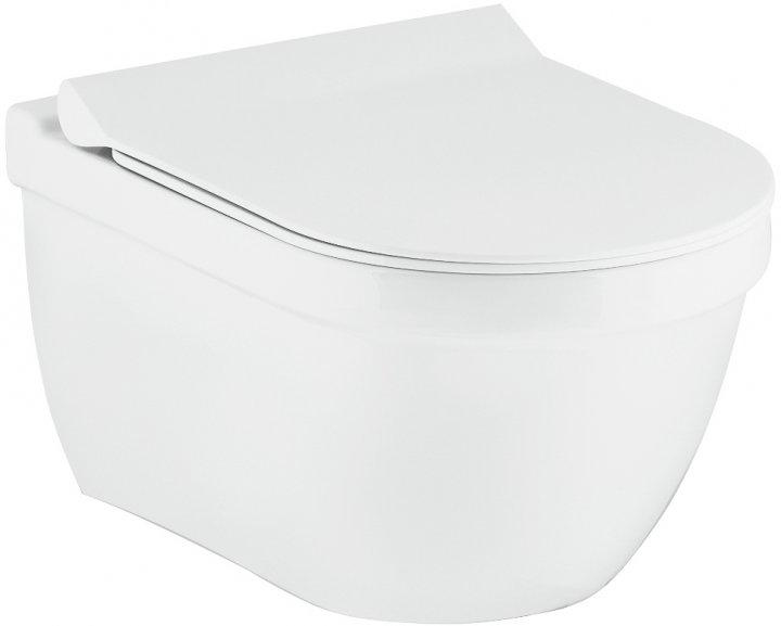 Унітаз підвісний VOLLE Solar Rimless 13-93-363 + сидіння Slim Soft Close - зображення 1