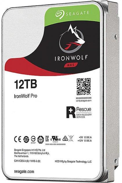 "Жорсткий диск Seagate IronWolf Pro HDD 12TB 7200rpm 256MB ST12000NE0008 3.5"" SATAIII - зображення 1"