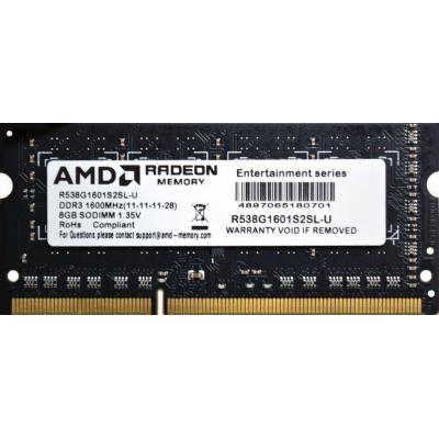 Модуль пам'яті для ноутбука SoDIMM DDR3L 8GB 1600 MHz AMD (R538G1601S2SL-U) - зображення 1