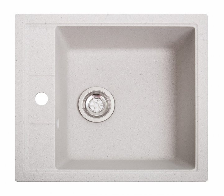 Кухонная мойка гранитная Бриз белая - изображение 1