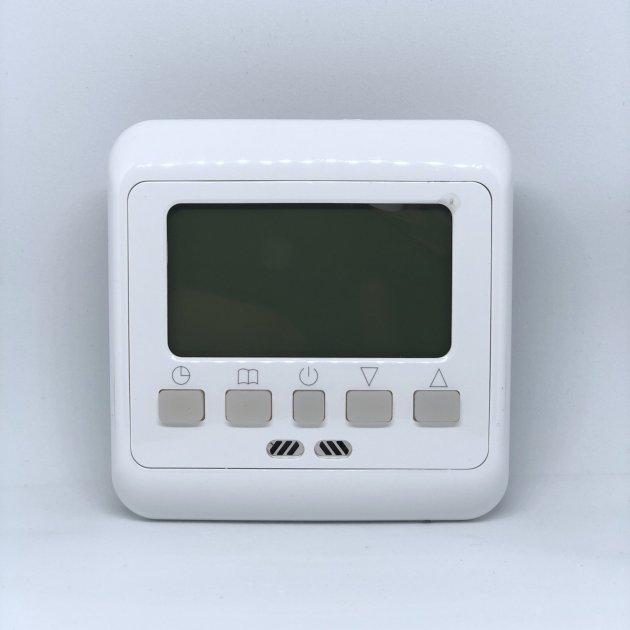 Электронный программируемый терморегулятор Exa для теплого пола подсветка зеленая (B08РЕ) - изображение 1