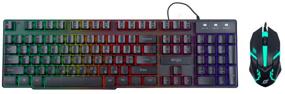 Ігровий комплект клавіатура і мишка ERGO MK-510 з LED підсвічуванням (6433) gl78 - зображення 1