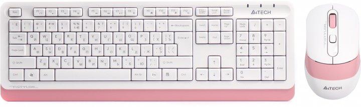 Комплект беспроводной A4Tech FG1010 Pink/White (4711421947503) - изображение 1
