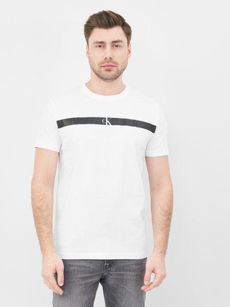 Футболка Calvin Klein Jeans Horizontal Ck Panel Tee J30J317165-YAF L Bright White (8719853577684) - изображение 1