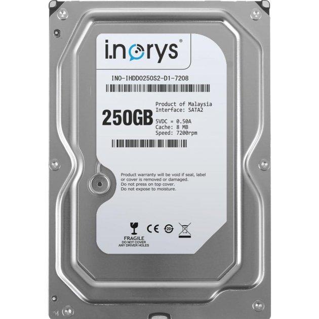 Жорсткий диск i.norys 3.5 250Gb (INO-IHDD0250S2-D1-7208) - зображення 1