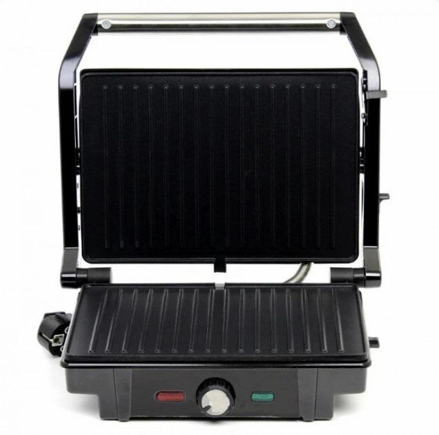 Гриль c терморегулятором притискної Електрогриль Rainberg RB-5403 2500W Black - зображення 1