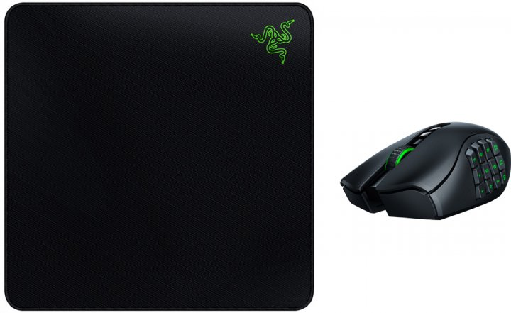 Хіт-комплект Миша Razer Naga PRO (RZ01-03420100-R3G1) + Ігрова поверхня Gigantus Elite (RZ02-01830200-R3M1) - зображення 1