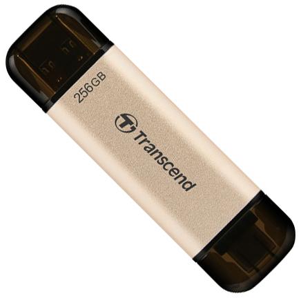 Transcend JetFlash 930C 256GB USB 3.2 / Type-C Gold-Black (TS256GJF930C) - зображення 1