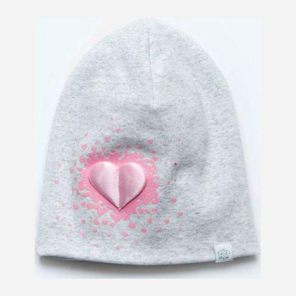 Демисезонная шапка Модный карапуз 03-01098-1 48-50 см Светло-серая (4824869810985) - изображение 1