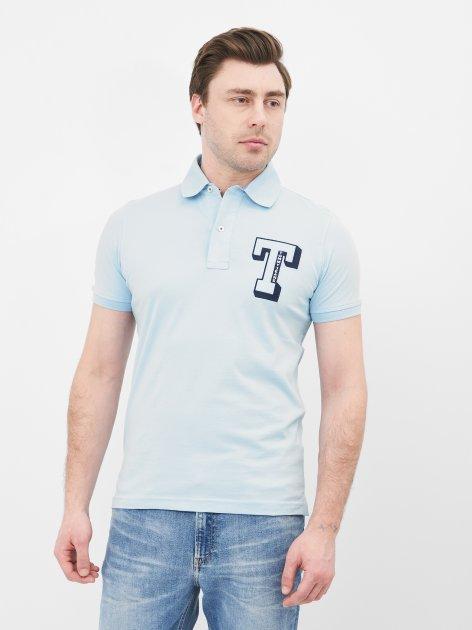 Поло Tommy Hilfiger 10675.6 2XL (52) Голубое - изображение 1