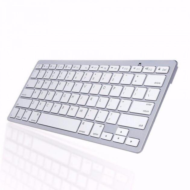 Bluetooth бездротова клавіатура для телевізора, планшета і смартфона ноутбука UKC X5 RUS з російськими літерами Біла (gr_006264) - зображення 1