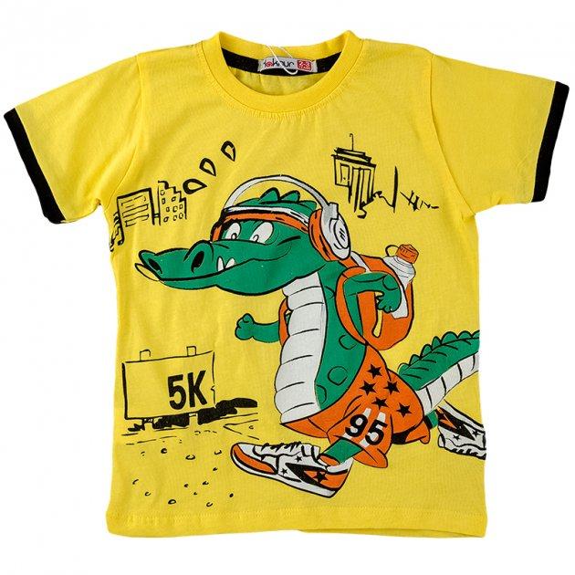 Футболка для мальчика HAKNUR 08361 92 см желтый (484728) - изображение 1