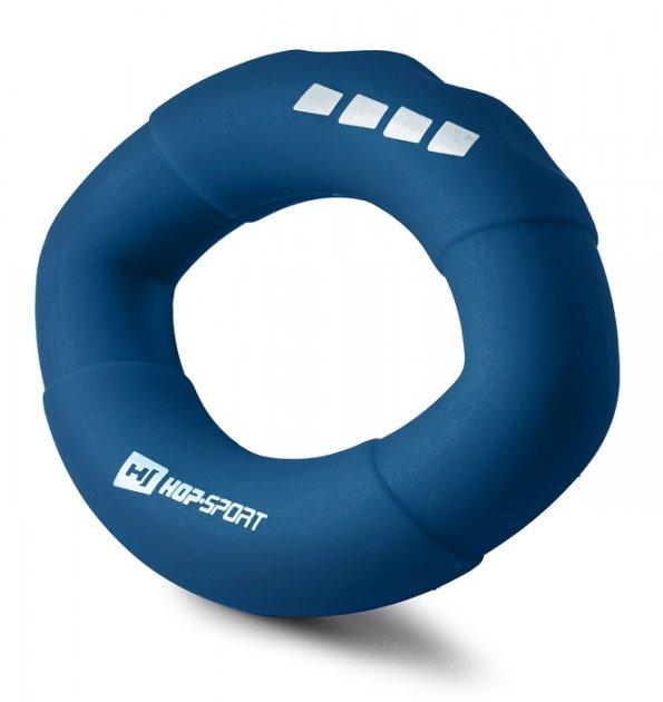 Еспандер силіконовий овальний 27,2 кг Hop-Sport HS-S027OG темно-синій - изображение 1