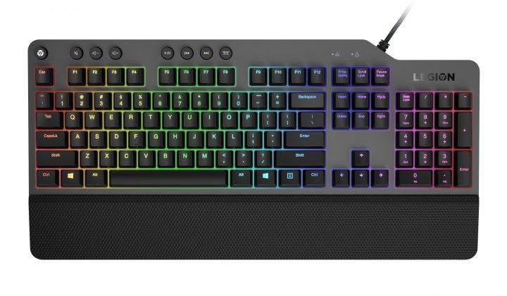 Клавиатура проводная Lenovo Legion K500 USB Black (GY40T26479) - изображение 1