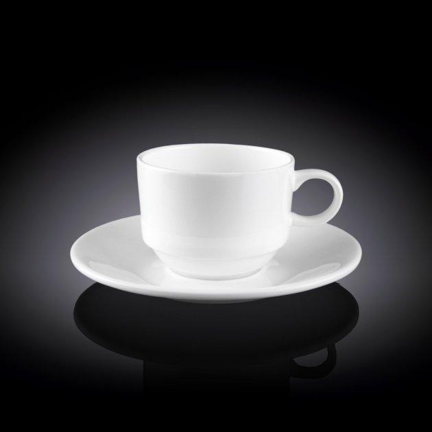Чашка кофейная и блюдце Wilmax 140 мл WL-993039 - изображение 1