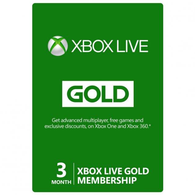 Підписка цифровий код іксбокс Live Gold Золотий Статус на 3 місяці, (Всі Країни) - зображення 1