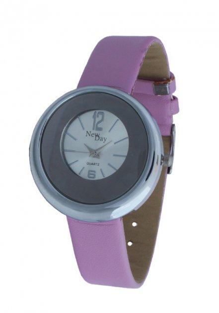 Женские часы NewDay Ch162h на сиреневом ремешке - изображение 1