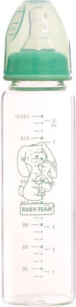 Бутылочка для кормления Baby Team стеклянная 250 мл (1211) - изображение 1