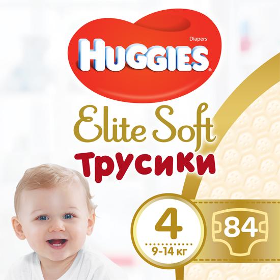 Трусики-подгузники Huggies Elite Soft Pants 4 (L) 84 шт (5029053547107) - изображение 1