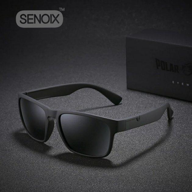 Солнцезащитные очки SENOIX™ PolarKing Darkzone, поляризационные Черные Original - изображение 1