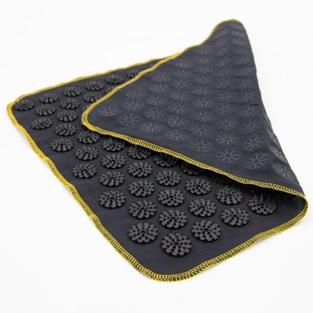 Килимок масажний Аплікатор Кузнєцова (для спини, ніг) OSPORT Їжачок 188 (apl-004) Чорно-чорний - зображення 1