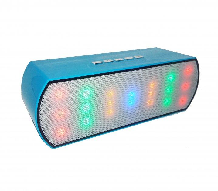 Портативна Bluetooth колонка WSTER WS-Y68 зі світломузикою блакитна (n117) - зображення 1
