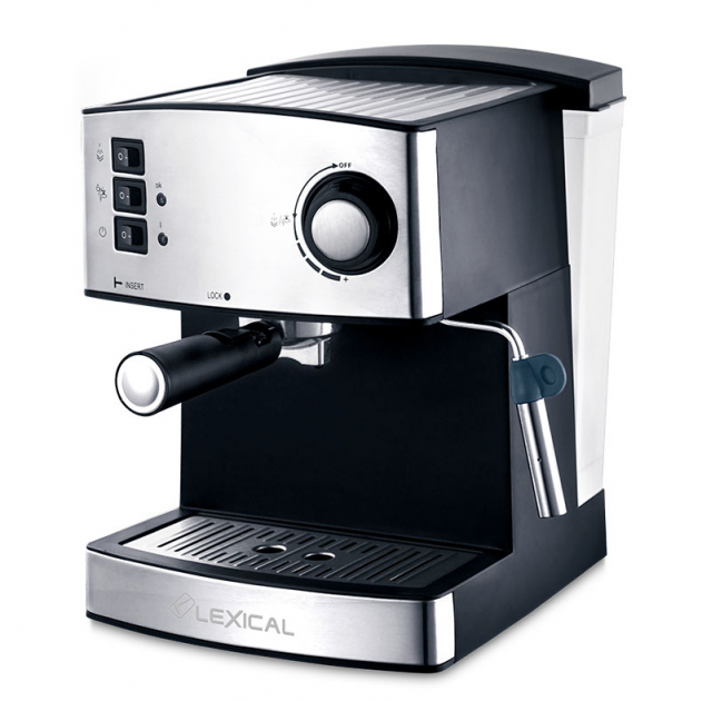 Кофемашина LEXIC LEM-0602 напівавтоматична з капучинатором для будинку - зображення 1