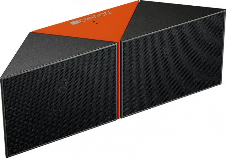 Акустическая система Canyon Transformer Portable Bluetooth Speaker Black/Orange (CNS-CBTSP4BO) - изображение 1