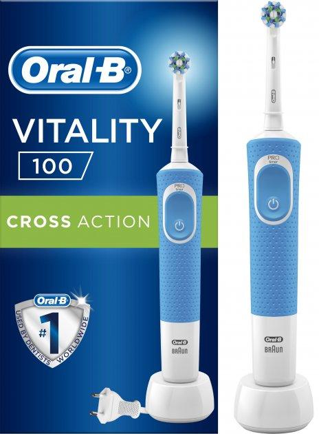 Електрична зубна щітка ORAL-B BRAUN Vitality CrossAction/D100 Blue (4210201262336) - зображення 1