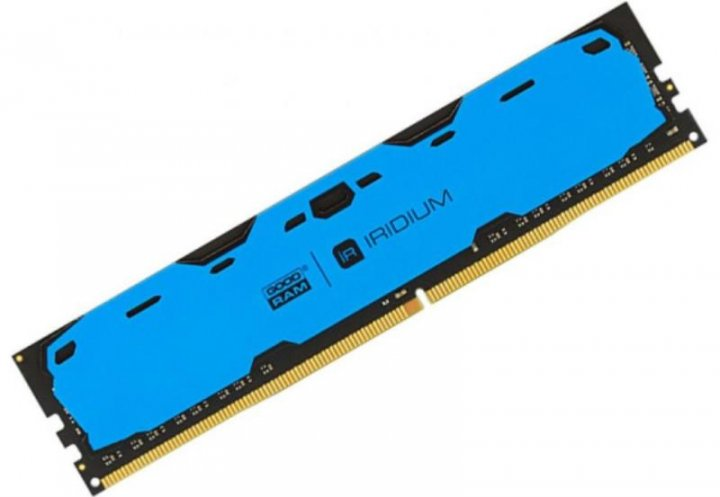 Оперативна пам'ять Goodram IRDM Blue (DIMM, DDR4, 4Gb, 2400MHz, IR-B2400D464L15S/4G) Б/У - зображення 1